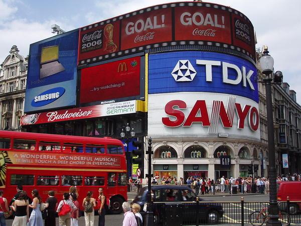 Plaza de Piccadilly Circus en Londres