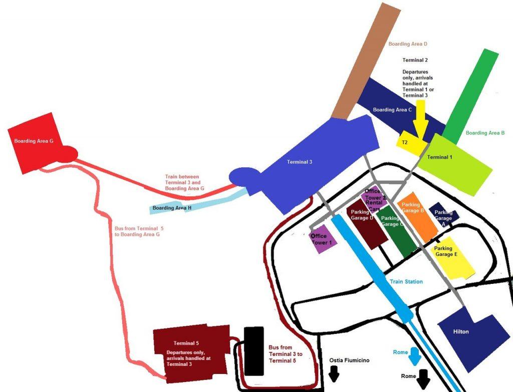 Fiumicino terminal map