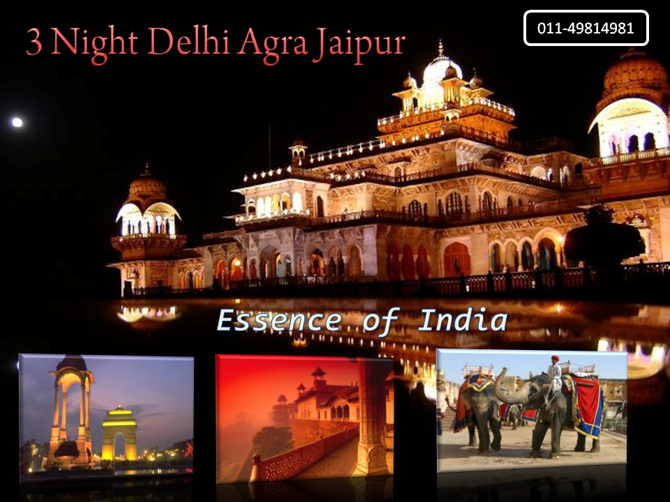3 Night Golden Triangle Delhi, Agra, Jaipur Tour