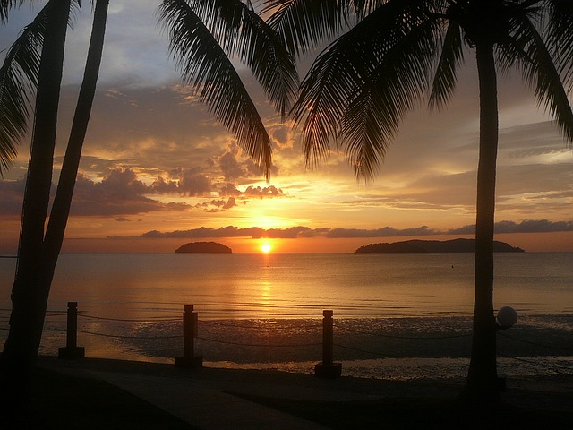 Borneo island sunset