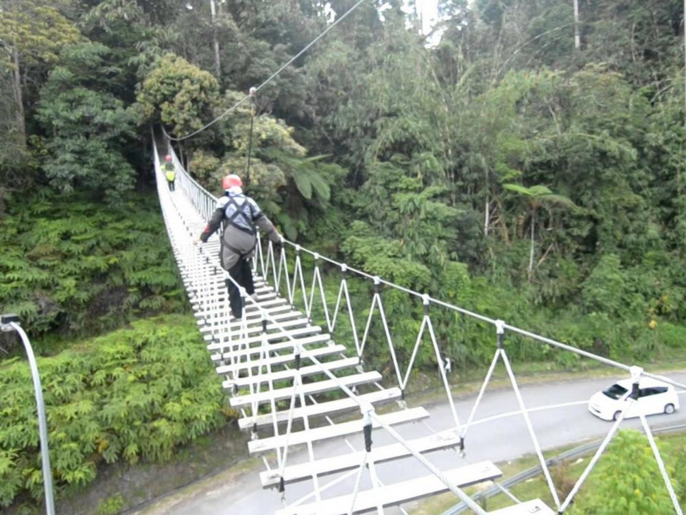 Ziplining - Bukit Tinggi Flying Fox, Malaysia